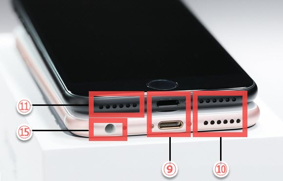 iPhoneの説明書 各部名称 機能