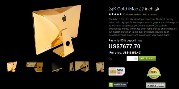 純金 iphone imac  goldgenie