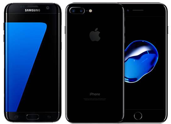Galaxy S7 Edge - iPhone7 Plus