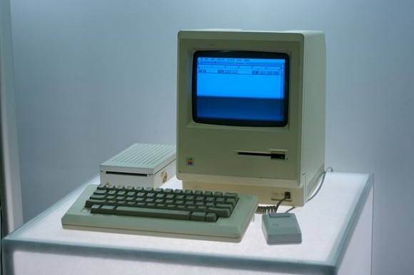 First Macintosh https://commons.wikimedia.org/wiki/File:Macintosh,_Google_NY_office_computer_museum.jpg