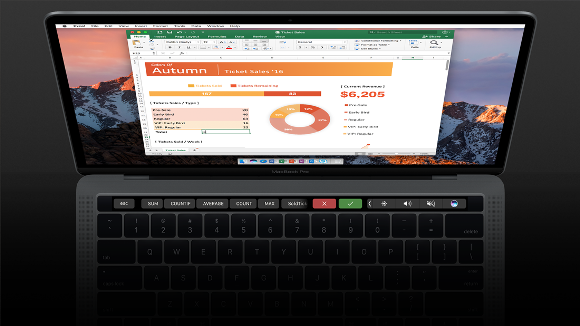 Excel Touch Bar