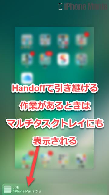 iPhoneの説明書 Handoff