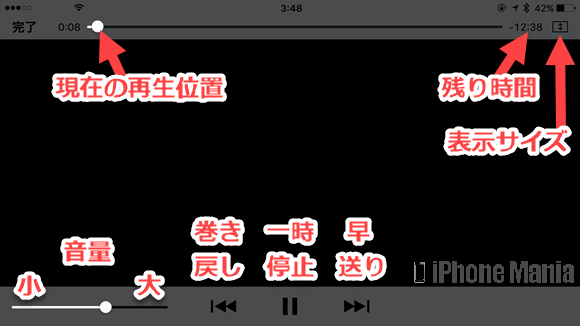 iPhoneの説明書 ビデオ 基本操作