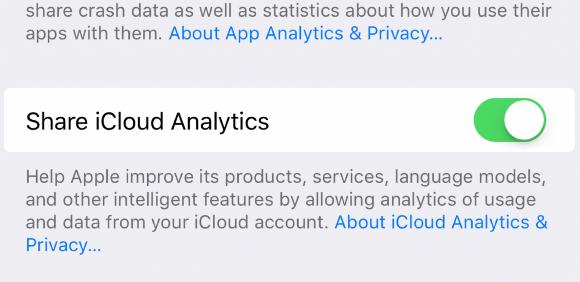 iCloud 分析