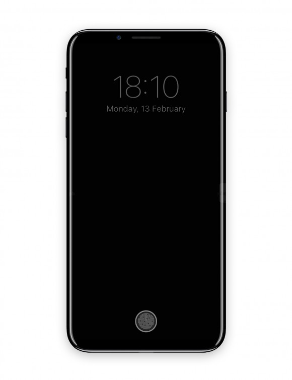 iPhone8 コンセプトhttps://forums.macrumors.com/threads/iphone-8-home-button-ui-implementation.2032467/
