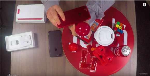 red iphone unboxing