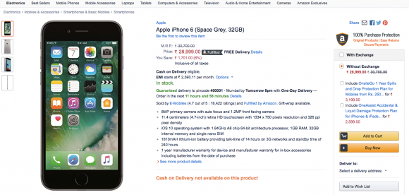 Amazon-india-iphone6-32gb