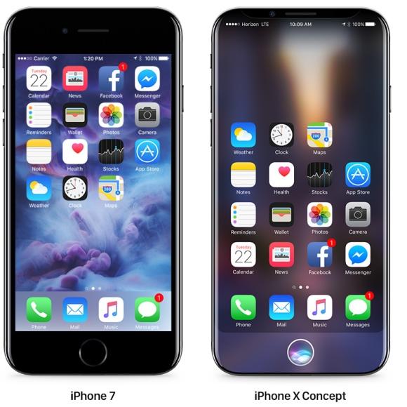 iPhone X コンセプトデザイン