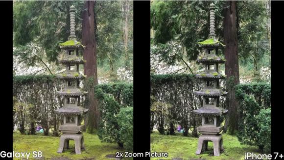 iphone7 plus galaxy s8 カメラ 性能