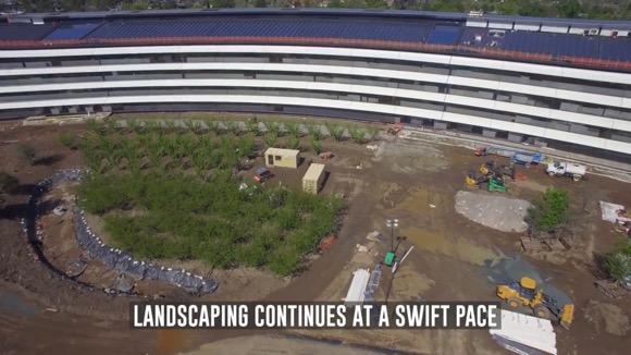 Apple Park 空撮動画 2017年4月