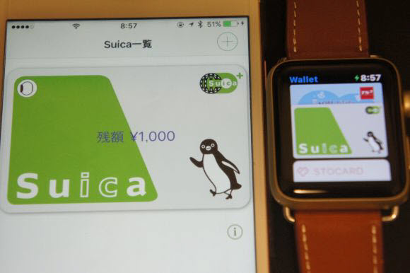 Suica Apple Pay 自撮asm