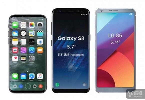 galaxy s8 iphone8 apple samsung 比較