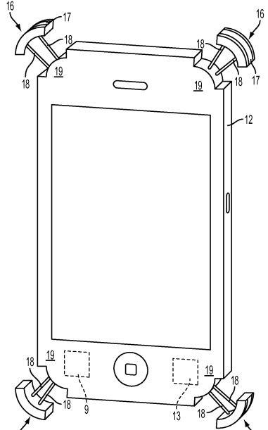 iphone バンパー 落下 特許