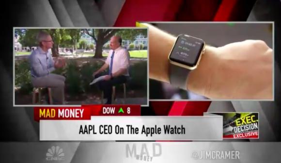 cnbc ティム・クック インタビュー apple watch