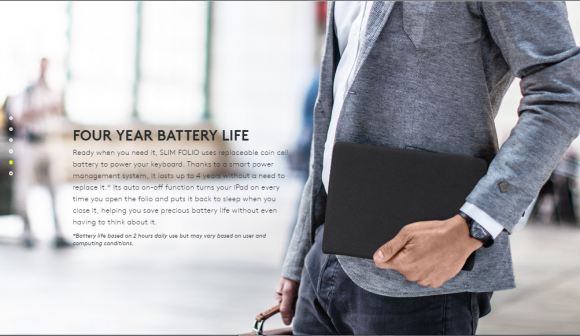 Slim Folio Four Year Battery Life