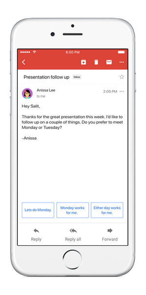 Gmail Smart Reply