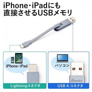 iPhone、iPadにも直接差せるUSBメモリ