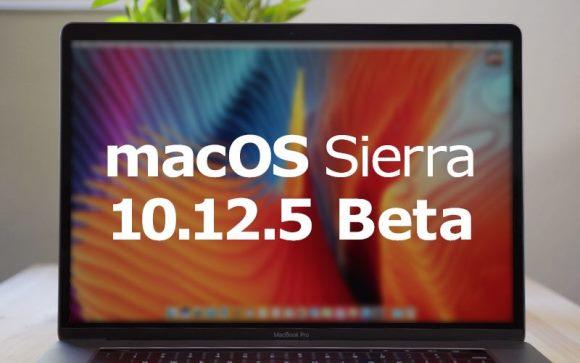 macOS Sierra 10.12.5 ベータ