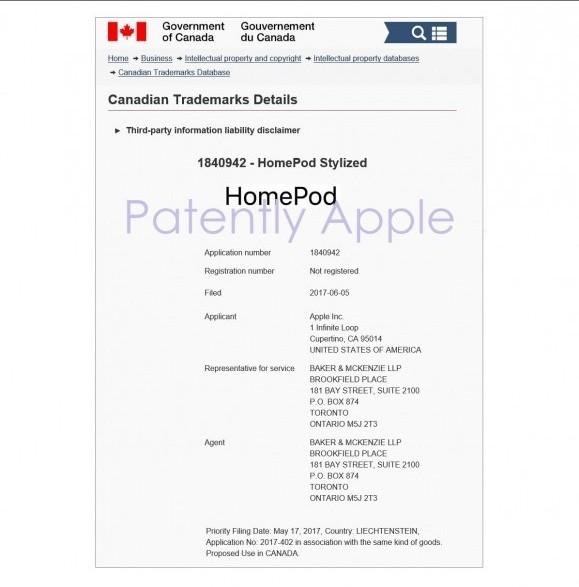 homepod 商標登録 申請
