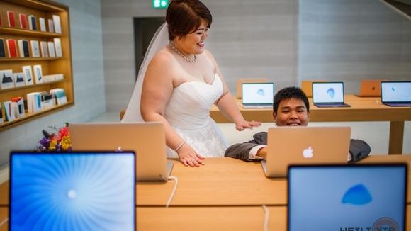 Apple Store シンガポール 結婚式