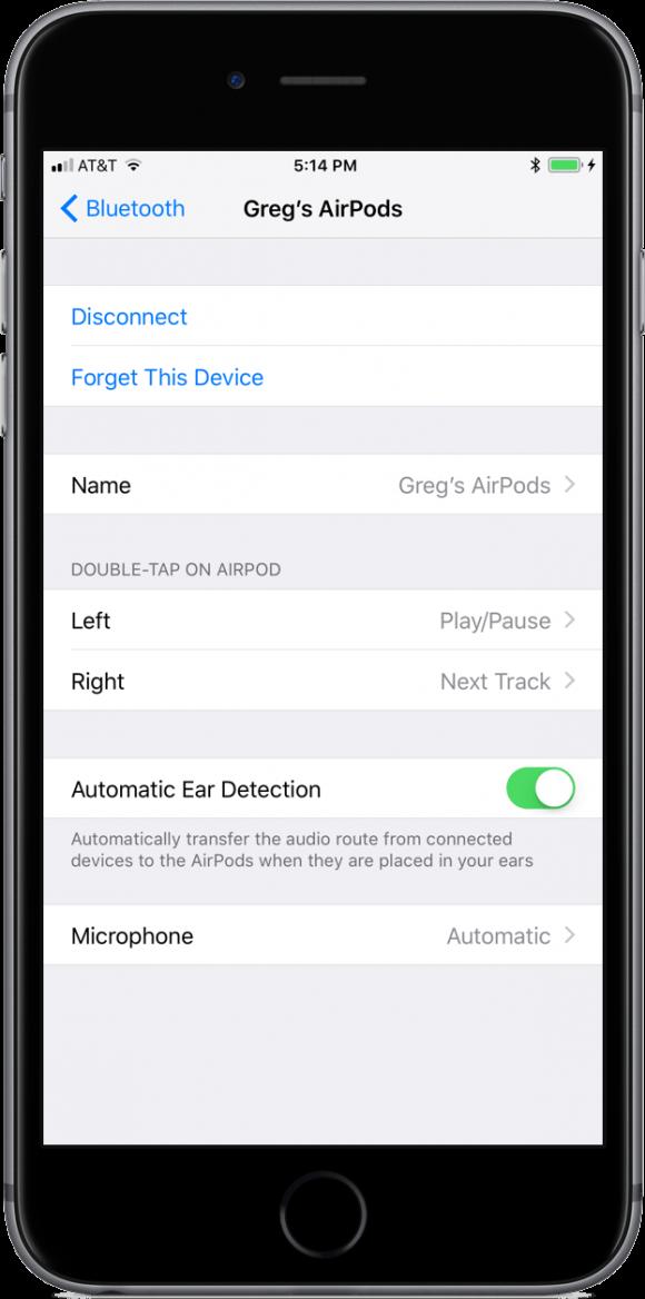 AirPods 設定 iOS11