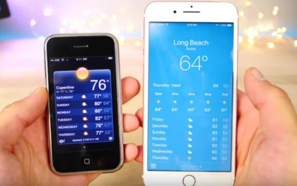 初代iphone  iphone7 plus 比較 ios