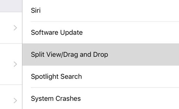 iOS10 ベータ ドラッグ&ドロップ