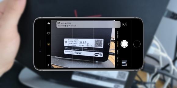 iOS11 QRコード Wi-Fiルーター