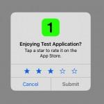 ios11 アプリ ポップアップ レーティング レビュー  評価