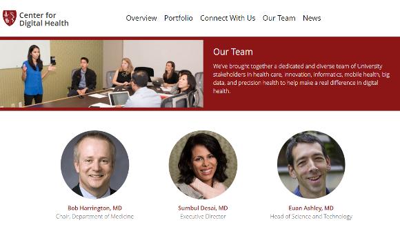 スタンフォード大学デジタルヘルス研究センター(Stanford Center for Digital Health)
