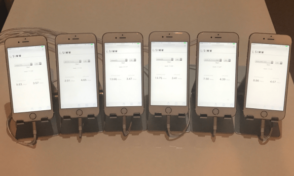 iPhone6sを使って計測