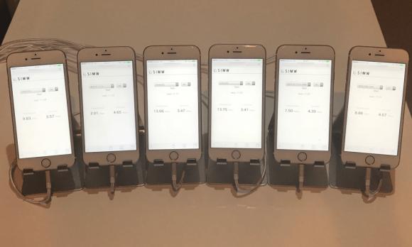 iPhone6sを使って計測