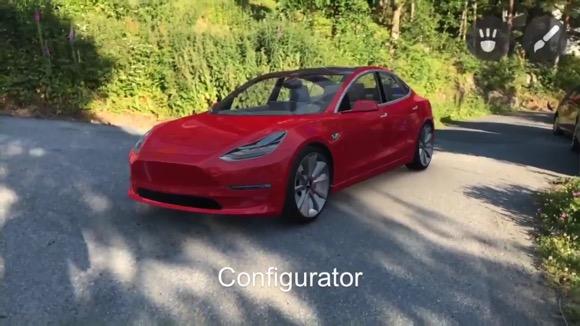 ARKit Tesla Model 3