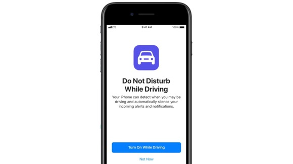 iOS11 運転中モード(Do Not Disturb While Driving)