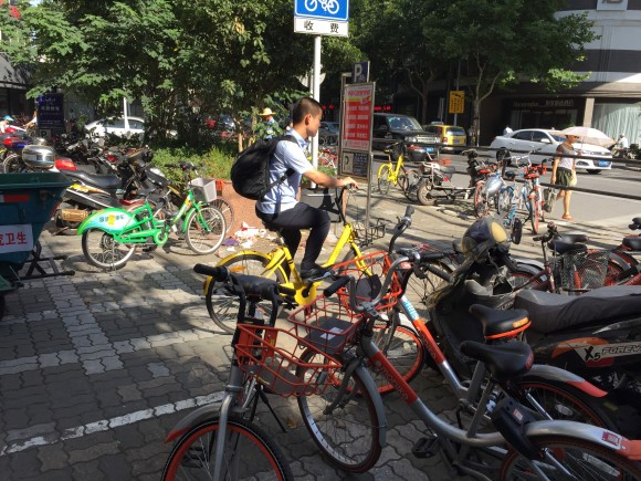 mobike レンタルサイクル 中国 フリー素材