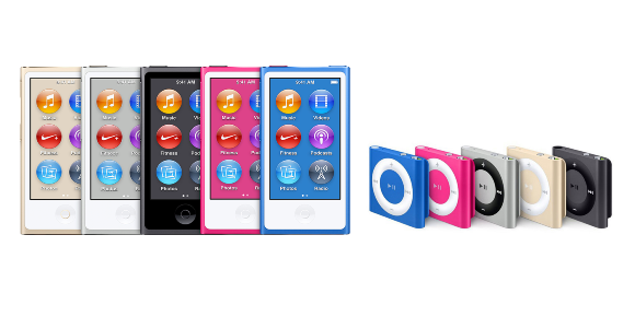 iPod nanoとiPod shuffle