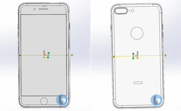 iPhone7s Plus CAD リーク