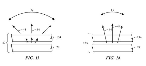 Apple ディスプレイ 視野角 特許