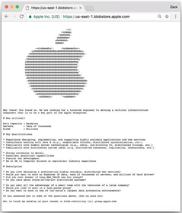 Apple 極秘求人