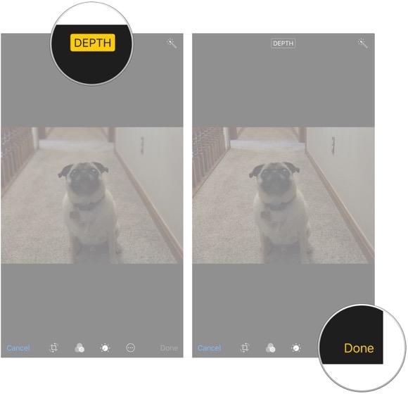 iOS11 ポートレートモード 編集