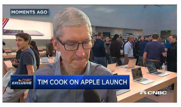 ティム・クック iphone インタビュー apple store