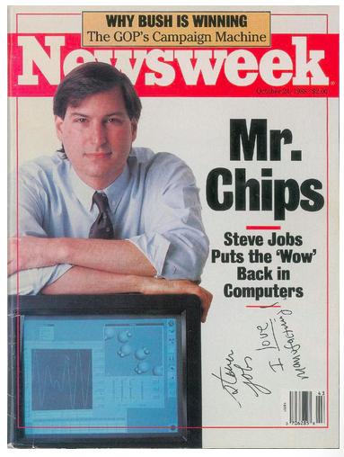 newsweek スティーブ・ジョブズ オークション