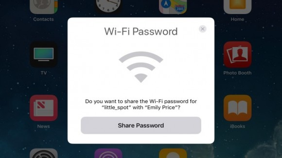 Wi-FI 共有 iOS11