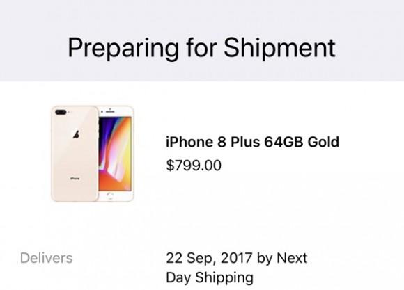 iphone8 出荷準備中