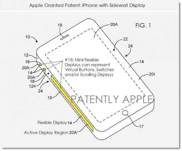 iphone 特許 エッジ ディスプレイ