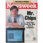 雑誌 Newsweek スティーブ・ジョブズ氏 サイン