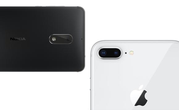 iPhone8 Plus Nokia 6 カメラ比較