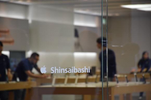 Apple 心斎橋 取材 iPhone X