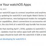 WatchOSアプリのアップデートについて