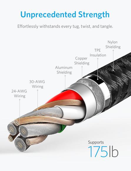 Anker PowerLine+ II ライトニングUSBケーブル